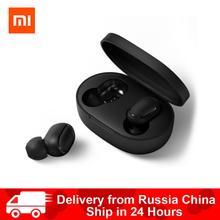 Xiaomi Redmi Airdots TWS Bluetooth наушники стерео басы BT 5,0 Eeadphones с микрофоном Handsfree Наушники управление AI