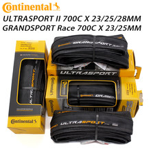 Continental ultra sport ii esporte corrida 700*23/25c 28c pneu de bicicleta estrada dobrável pneus de bicicleta original grand sport corrida
