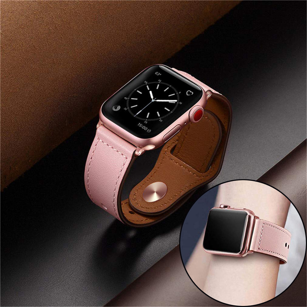 New Leather Strap For Apple Watch Bands 42mm 38mm Genuine Leather Loop Bracelet Strap For Apple Watch 44mm 40mm Series 5 4 3 2 1