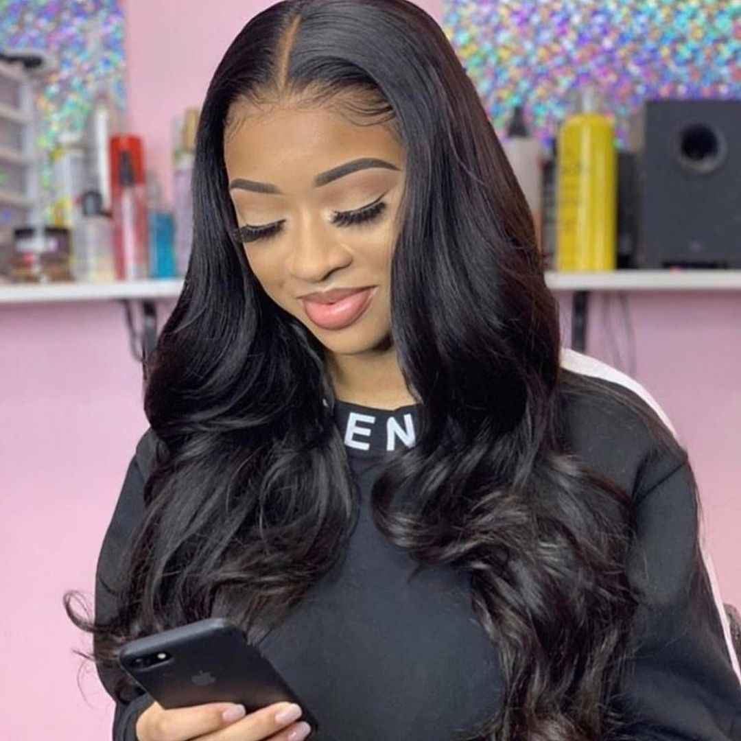360 Lace Frontal Wig Pre Plucked With Baby Hair Brazilian Body Wave Wig 6 Inch Lace Front Human Hair Wigs For Black Women Remy