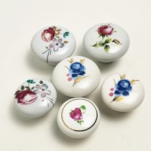 Branco sala de crianças cerâmica única redonda guarda-roupa cozinha jardim maçaneta da porta do armário puxadores móveis dos desenhos animados