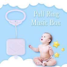 Потяните кольцо Музыкальная шкатулка Белый ABS пластик тяга струна младенец дети Заводной шнур музыкальная шкатулка Младенческая Детская кровать колокольчик детские погремушки игрушки