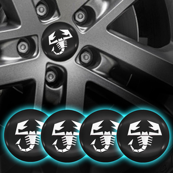 4pcs 56mm Car Accessories Refit Wheel hub center stickers Cap Wheel Badge Sticker cover Scorpion for Fiat- abarth-500 595 1100 image