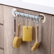 Прочный крючок на липучке, Кухонное настенное крепление креативное, для ванной, без гвоздей, бесшовная вешалка, вешалка, крючок, полки, 6 даже ряд крючков