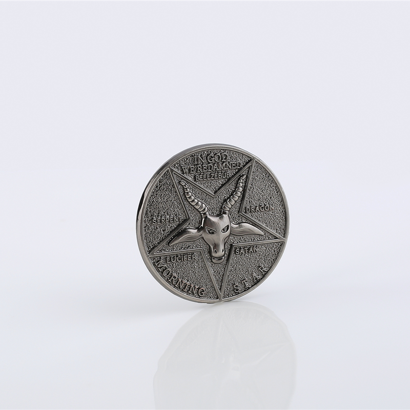 Lucifer Morning Star Satanic Pentecostal Coin Specie Cosplay Costume Accessories