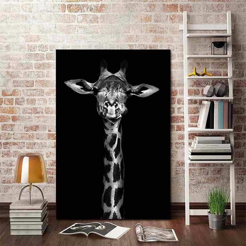 ديكور المنزل لغرفة المعيشة شعبية جدار الفن اللوحة الفيل جدار صور زيبرا الملصقات الحيوان الغزلان الأسد 1 قطعة قماش