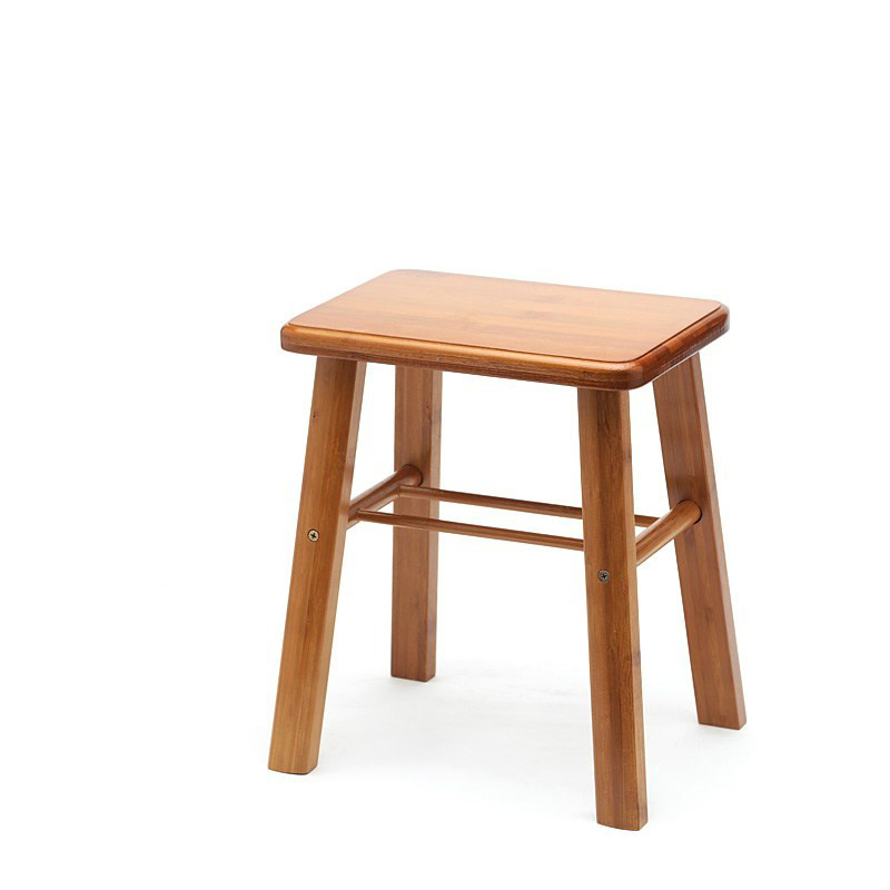 Small Bench Square Stool Back Chair Folding   Child Dining   Household Nan Bamboo  Table Matching Sto