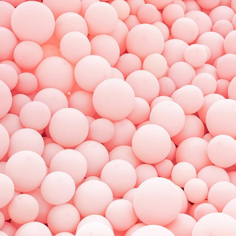 """5 """"10"""" 12 """"18"""" 36 """"fosco rosa puro balão redondo rosa forma da arte decoração festa de aniversário do casamento balões românticos"""