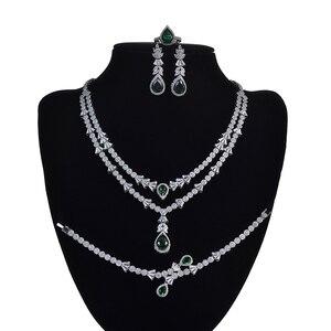Image 1 - Женский комплект украшений, колье, серьги и браслет