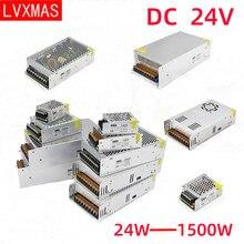 LVXMAS DC 24 в световой трансформатор источник питания 24 Вт-1500 Вт светодиодный привод адаптер питания для светодиодсветильник ели видеонаблюден...