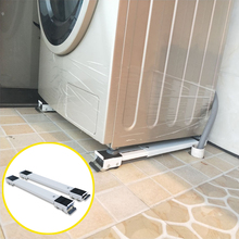 Refrigerator Washing Machine Base Furniture Stand Adjustable Movable Metal Anti-rust Bracket with Rollers