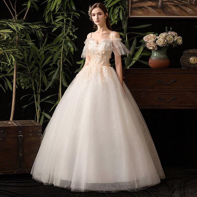 Nouvelle mode robes De mariée simples dentelle applique robe De mariée élégante grande taille robe De mariée Vestido De Noiva