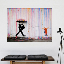 Colorful Rain Street Graffiti Canvas Posters Prints Wall Art Painting Oil Decorative Picture Modern Living Room Home Decoration