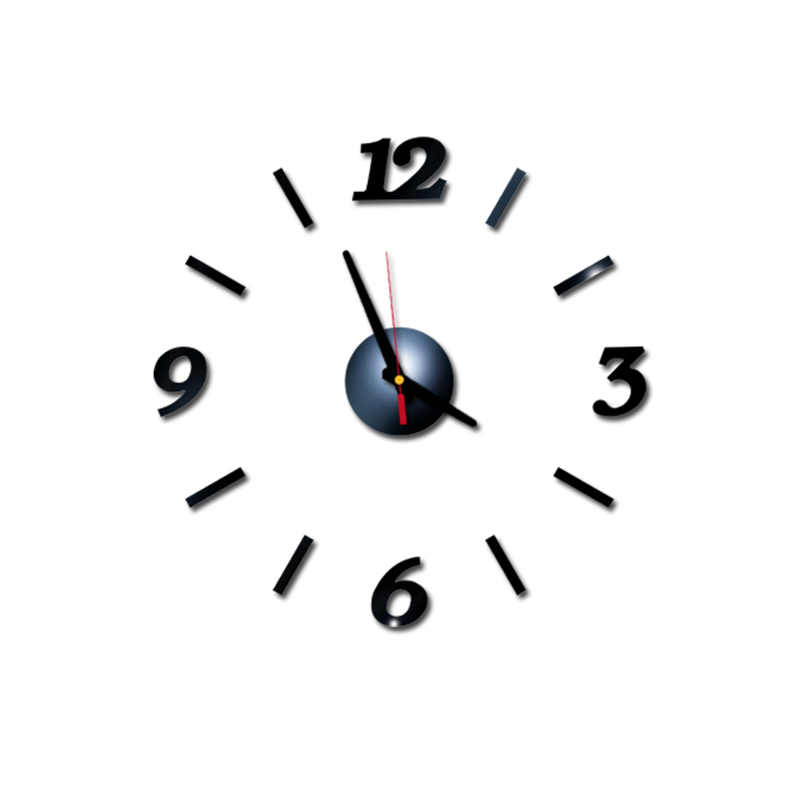 Wall Clock Acrylic Diy Small Size Mirror Wall Clock 3d Modern Minimalist Clock Art Personality Wall Sticker Clock Modern Mute