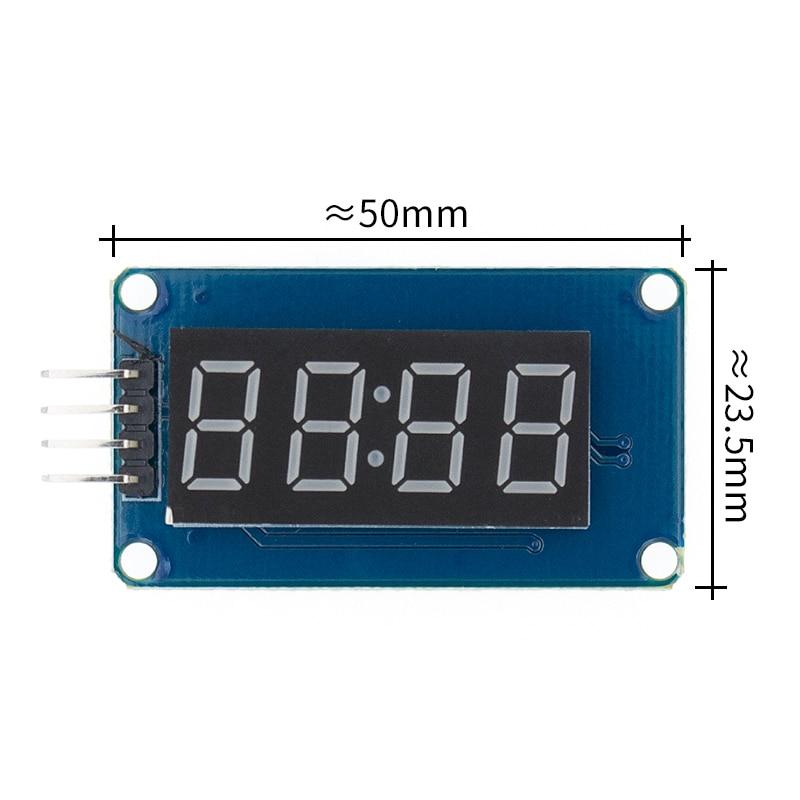 TM1637 4 бита цифровой светодиодный модуль дисплея для arduino 7 сегментов 0,36 дюймов часы красный анод трубки четыре последовательных драйвер платы Пакет - Цвет: TM1637 module