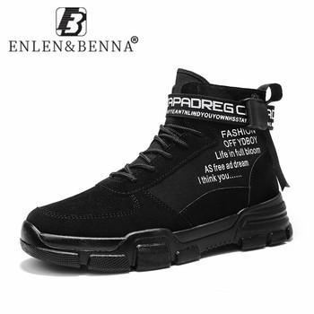 Nowości męskie buty skórzane wodoodporne buty wojskowe zasznurować moda zimowe kostki lekkie męskie buty akcesoria do motoru tanie i dobre opinie ENLEN BENNA Podstawowe CN (pochodzenie) ANKLE Stałe Dla dorosłych NONE Okrągły nosek RUBBER Zima Niska (1 cm-3 cm) 2903 leather boots