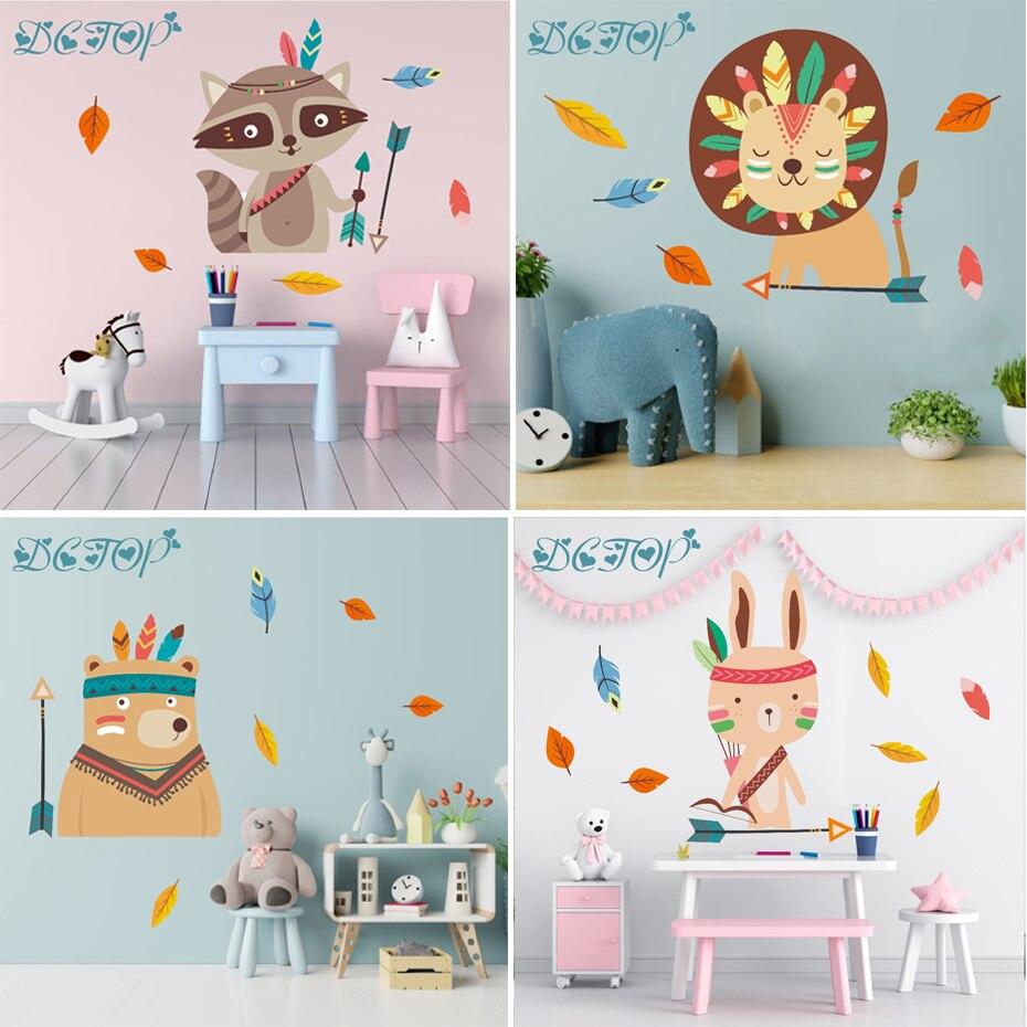 Stickers Muraux Chambre Bébé stickers mural les animaux de la forêt pour décorer la chambre de bébé