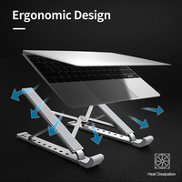 Laptop Tablets Stand,Adjustable Portable Holder for Desk for Ipad MacBook Air Pro Dell Lenovo HP ASUS More 10 15.6 inches Laptop