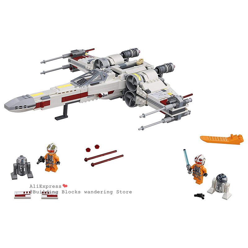 05145 10466 Star Wars First Order Poe's X Wing Starfighters Compatible With Legoinglys 75218 Building Toys Blocks Bricks For Kid