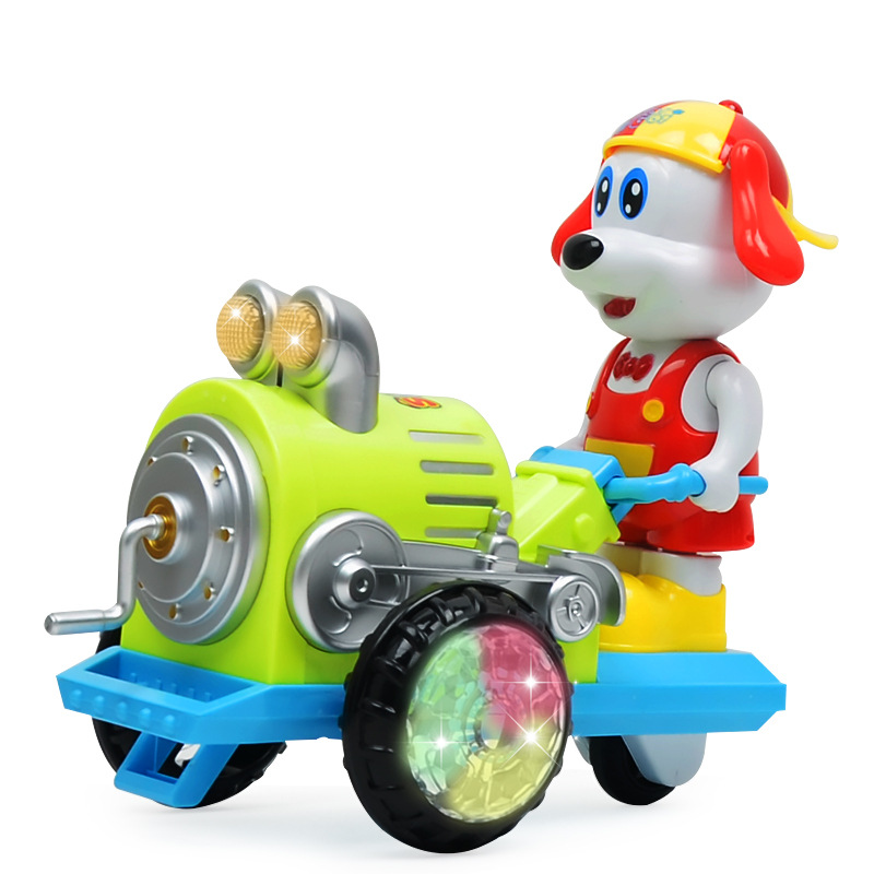 Cartoon Electric Toys Dog Rock And Roll Tractor Electric Light Music Dancing Puppy CHILDREN'S Toy