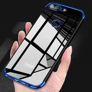 Перейти на Алиэкспресс и купить Гальванический чехол для Huawei Honor 9 Lite, силиконовый металлический противоударный чехол для Huawei Honor 9 Lite, чехол Honor 9 Lite