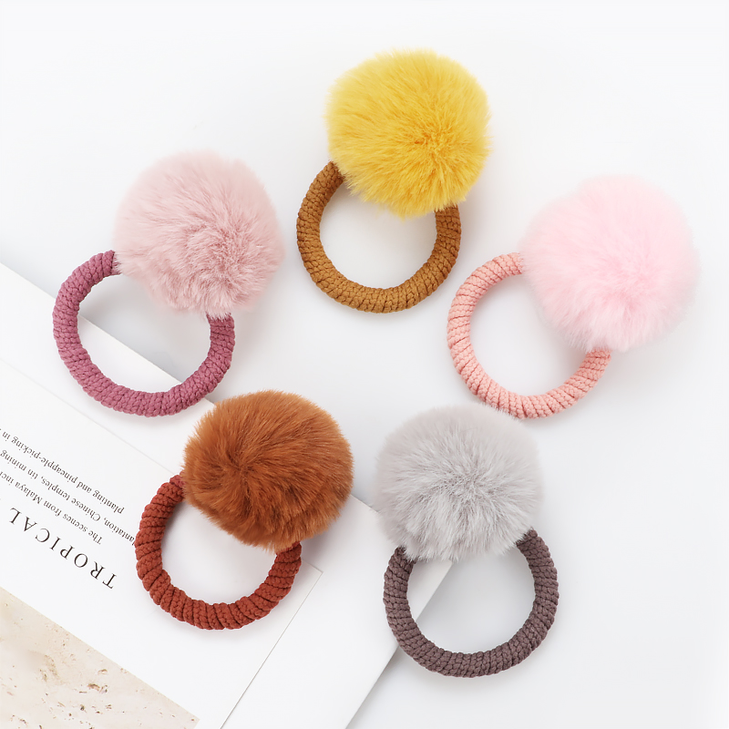 Cute Imitation water ball hair ring female rubber band elastic hair bands Korean   headwear   children hair Accessories ornaments