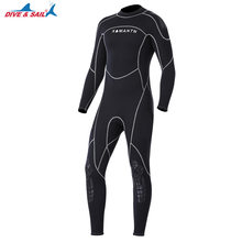 Men's 3MM Neoprene One Piece Wetsuit Long Sleeve Full Body Diving Suit Surfing Swim Swimsuit Rashguard Wet Suit for Cold Water(China)