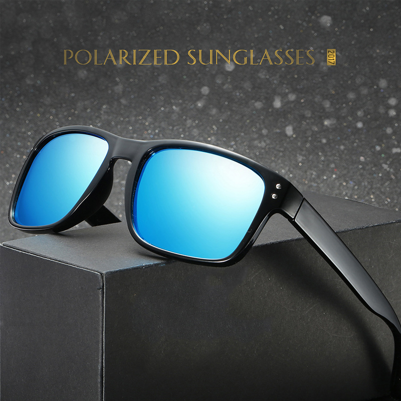Мужские водительские солнцезащитные очки Reggaeton, черные солнцезащитные очки в квадратной оправе с поляризованными линзами, степень защиты ...