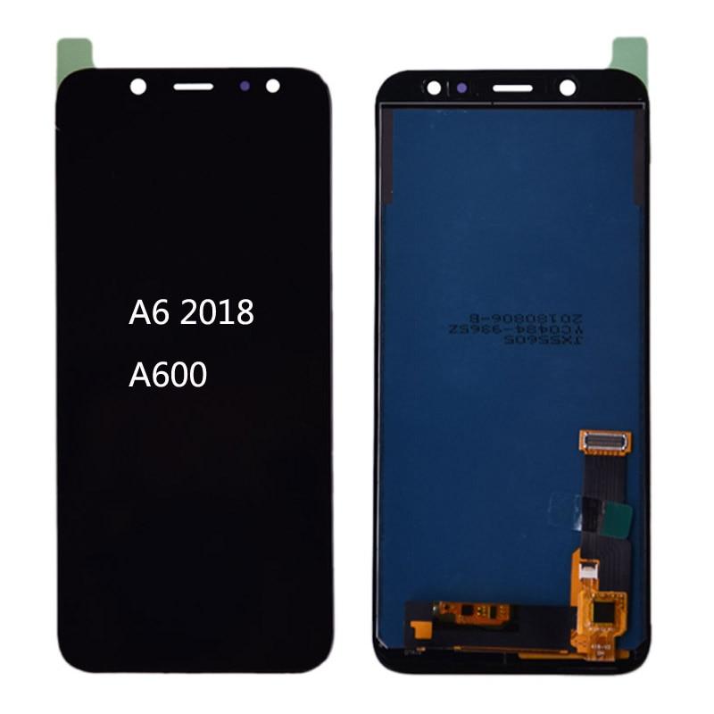 Para SAMSUNG Galaxy A6 2018 A600 LCD pantalla táctil digitalizador pieza de repuesto para SAMSUNG A6 A600F A600FN LCD