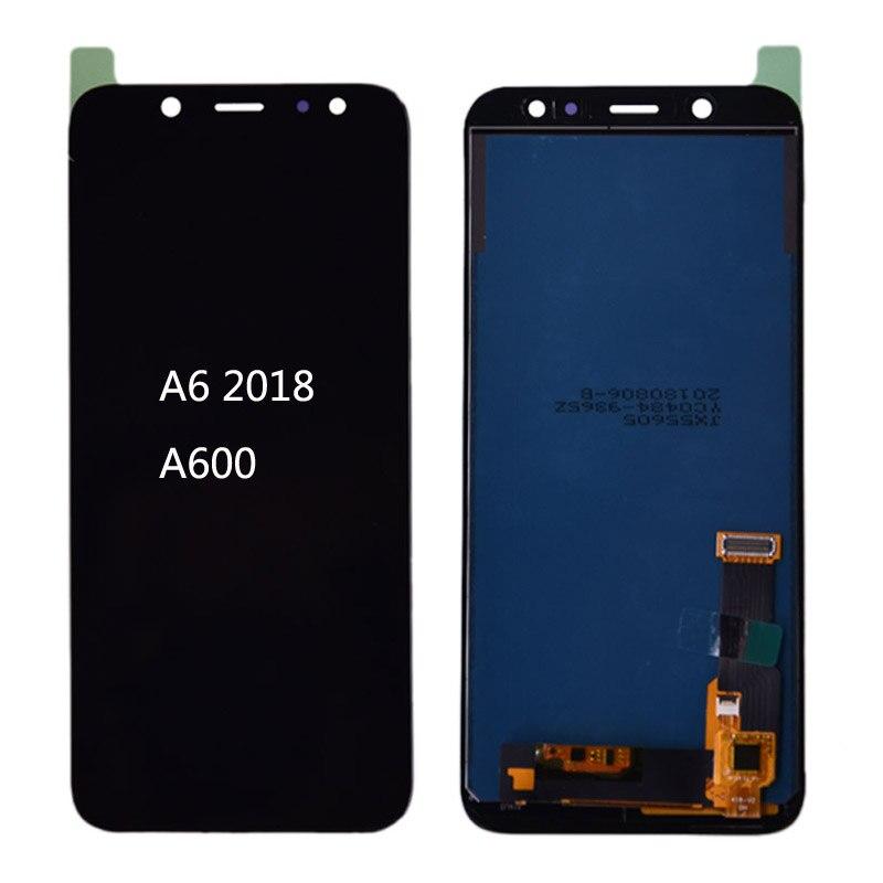 Para samsung galaxy a6 2018 a600 lcd screen display toque digitador assembléia peça de reposição para samsung a6 a600f a600fn lcd