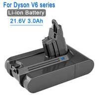 21.6V 3000mAh Li-ion Batterie De Remplacement pour Dyson Batterie 3.0Ah V6 DC61 DC62 DC72 DC58 DC59 DC72 DC74 Aspirateur 965874-02