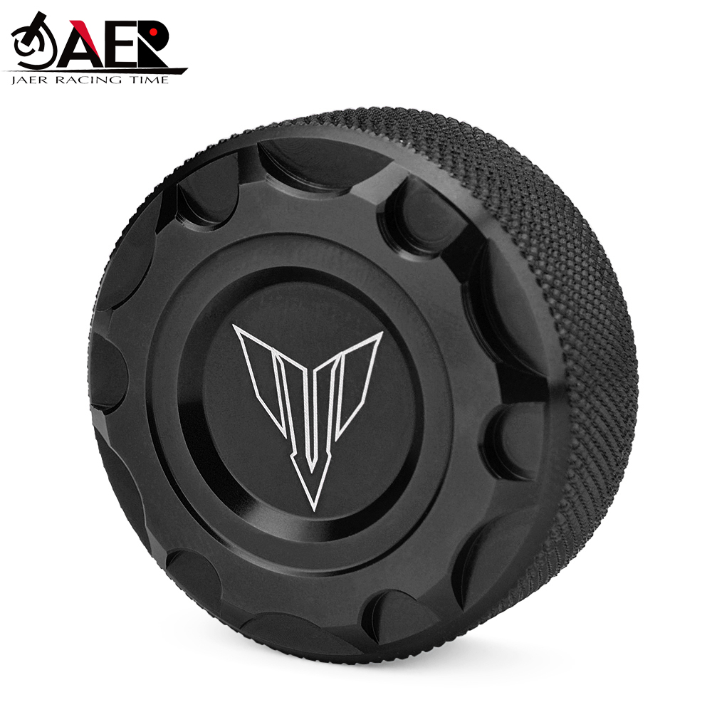 JAER Motorcycle Rear Brake Fluid Reservoir Cap Oil Cup For <font><b>Yamaha</b></font> MT03 <font><b>MT25</b></font> 2015-2020 MT07 FZ07 2014-2020 MT09 FZ09 2013-2020 image