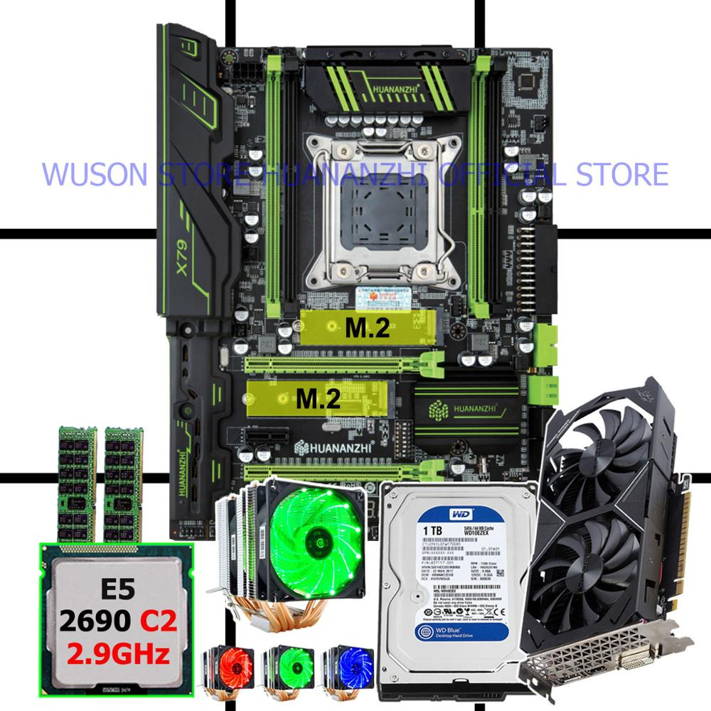 Discount new HUANANZHI X79 Pro motherboard with CPU Xeon E5 <font><b>2690</b></font> C2 2.9GHz RAM 16G(2*8G) video card GTX1050Ti 4G 1TB SATA3.0 HDD image