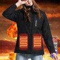Winter Warm Wandern Jacken Männer Frauen Smart Thermostat Mit Kapuze Beheizte Kleidung Männlichen Wasserdicht Skifahren Wandern Thermische Fleece Jacke