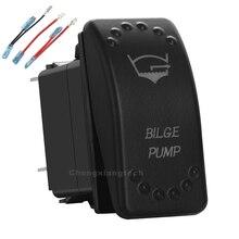 Orange Led 5Pin On/Off SPST Rocker Push Switch Bilge Pump 20A/12V 10A/24V For Car Boat Waterproof+Jumper Wires Set