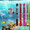 1.2m/1.5m/1.8m Scuba Diving Inflatable Marker with High Visibility Reflective Band Surface Buoy Marker Diving tools