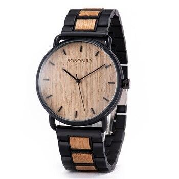 BOBO BIRD Watch Men Zebra Wood  Luxury Brand montre homme Quartz Wristwatches Male Clock Simple Ultra-thin Dropshipping - discount item  62% OFF Men's Watches