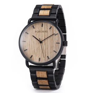BOBO BIRD Watch Men Zebra Wood Luxury Brand montre homme Quartz Wristwatches Male Clock Simple Ultra-thin Dropshipping(China)