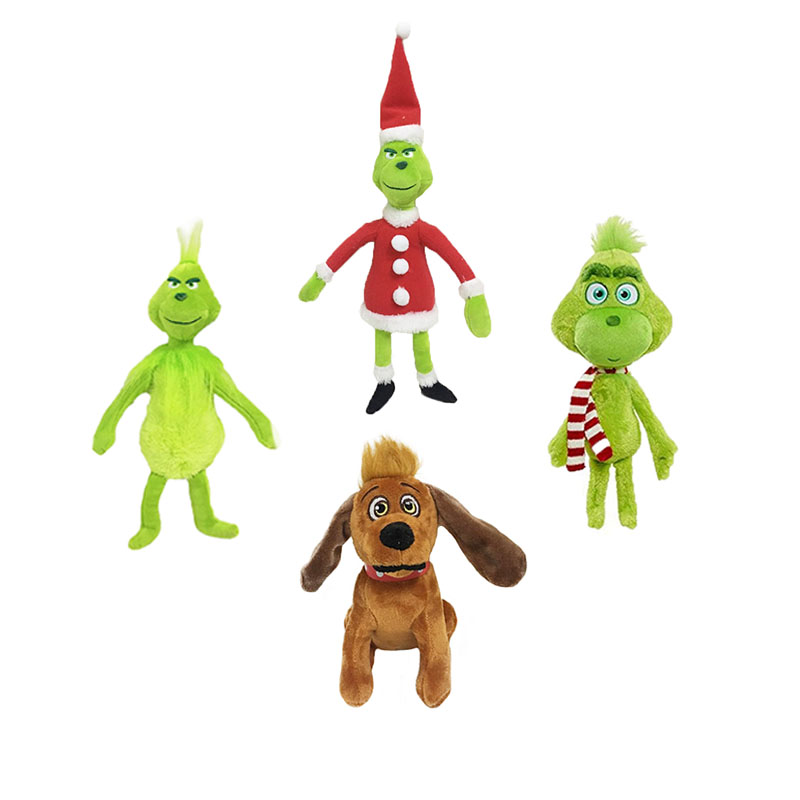 18-38cm Grinch Christmas Gifts The Grinch Who Stole Christmas Doll Movie Young Beans Plush Stuffed Animal Dolls Collectible Toys