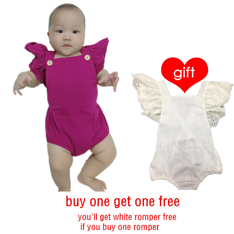 Seartist Baby Girls Romper Newborn Clothes Girls Summer Ruffle Sleeve Toddler Jumpsuit 0-2Yrs 2020 New Buy One Get One Free 32