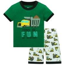 Summer Boys Pajamas Sets Monkey Short Sleeve Childrens Sleepwear 100% Cotton Kids underwear Pyjama sleeping suits