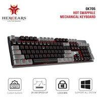 HEXGEARS GK715 Kailh Box schalter Gaming Tastatur Wasserdicht Rosa 104 schlüssel Tastatur Hot Swap Schalter Mechanische Gaming Tastatur