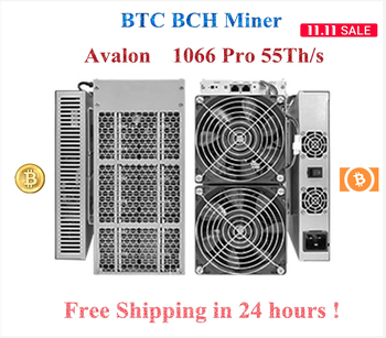 Free Shipping Avalon 1066 Pro 55Th/s sha256 BTC BCH Miner More Economical than AntMiner S17+ S17e T17+ T17e T2T T3 1