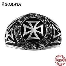 Уникальное классическое мужское кольцо gomaya из нержавеющей