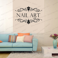 Shop Wall Decal Nail Salon Wall Art Stickers Vinyl Decals For Nail Salon Room Decor Sticker Vinyl Mural Wallpaper Poster WL596 new tom cat jerry mouse wall art decal pvc material stickers wall decals for kids room vinyl wall sticker mural wallpaper