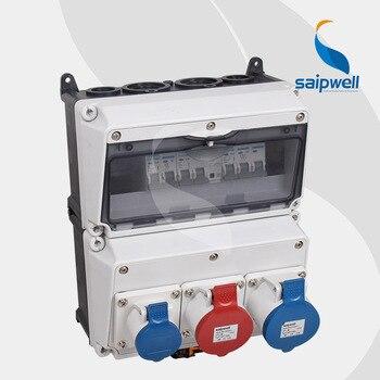 Saip/Saipwell Plastic Industrial power Combination Socket Box Distribution Boxes electrical socket & plug
