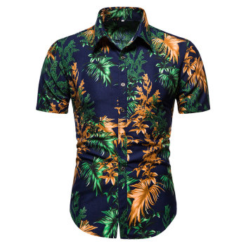 Aoliwen brand Hawaii Beach Short Sleeve Printed Shirt Summer Travel Home Top Men's Fashion Casual Shirt Sunshine men men shirt summer new casual slim fit short sleeve hawaii shirt quick dry printed beach shirt male top blouse hawaiian shirt men
