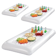 Bar-Tray Pool-Float Ice-Bucket Serving Inflatable Table-Mattress Food-Drink-Holder Beer