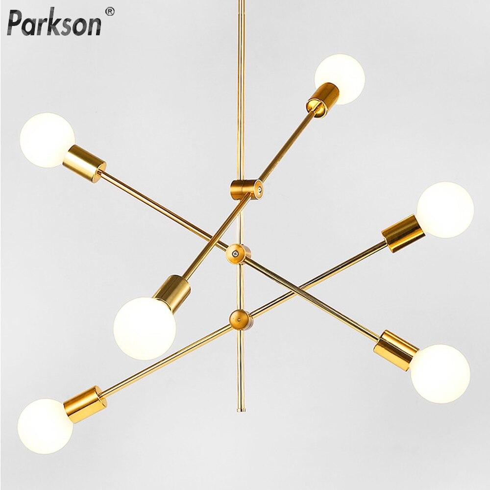 Современный скандинавский подвесной светильник s, черные золотые подвесные светильники 2, 4, 5, 6 головок, E27, светодиодный светильник, Подвесн