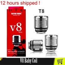 V8 original cabeça da bobina do bebê v8 malha 0.15ohm t8 q2 0.4 m2 0.15 bobina para v8 grande bebê/bebê atomizador cigarros eletrônicos núcleo